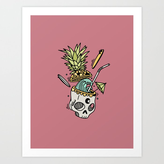 PinaSkullada | Color Art Print