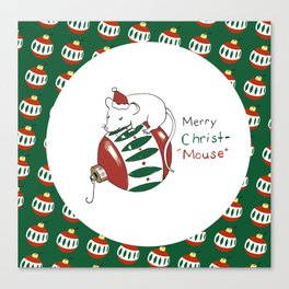 Merry Christmas Mouse Canvas Print
