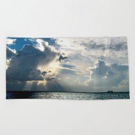 Coconut Grove Sailing Day Beach Towel