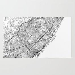 Barcelona White Map Rug