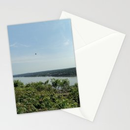 Bird soaring over the Palisades and Hudson from the New York Side Stationery Cards