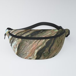 Old Olive tree weathered wood Fanny Pack
