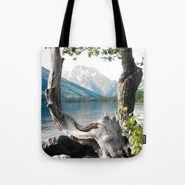 Tetons at Jackson Lake Wyoming Tote Bag