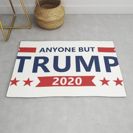 Funny Anti Trump Vote Joe Biden Anyone But Trump 2020 Election Rug