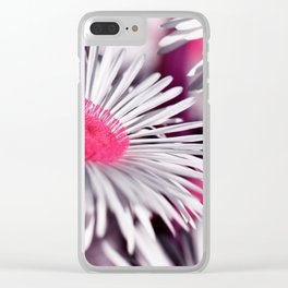 Marquerite white pink 01 Clear iPhone Case