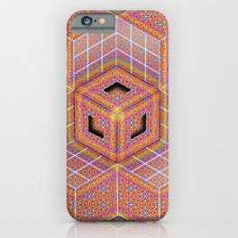 Flower of Life Tesseract iPhone Case
