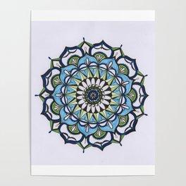 Mediterranean Mandala Poster
