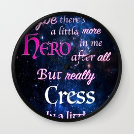 You Are A Hero Thorne Wall Clock