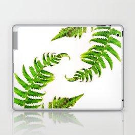 Fern on white - double Laptop & iPad Skin