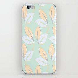 Classic leaves in green iPhone Skin