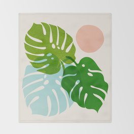 Abstraction_FLORAL_NATURE_Minimalism_001 Throw Blanket