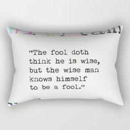 William Shakespeare quote Rectangular Pillow