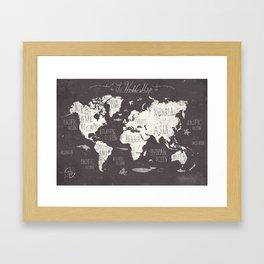 The World Map Framed Art Print