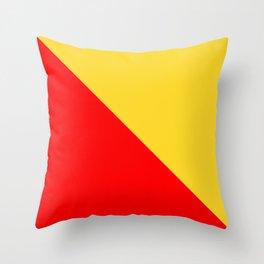 flag of palermo Throw Pillow