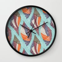 knitting Wall Clocks featuring knitting dots by frameless