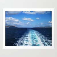 voyage Art Prints featuring Voyage by aeolia