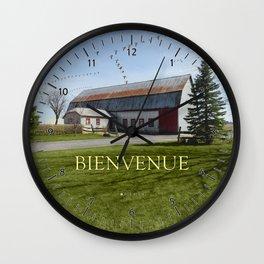 Grange & Outardes - Bienvenue Wall Clock
