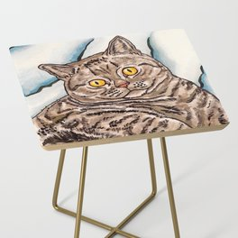 Grey Cat Side Table