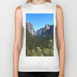 Bridal Veil Falls From Tunnel View Point - Yosemite Valley Biker Tank
