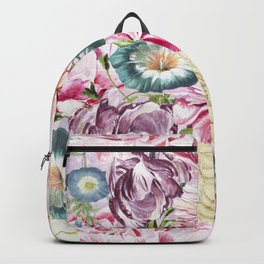 Vintage & Shabby chic -  Retro Spring Flower Pattern Backpack