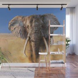 Charging bull elephant Wall Mural