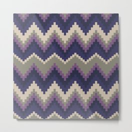 Jagged Violet Metal Print