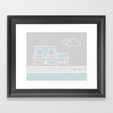 Lagoon House Framed Art Print