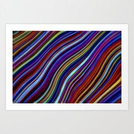 Wild Wavy Lines 19 Art Print