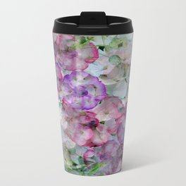 Mesmerizing Floral Abstract Travel Mug