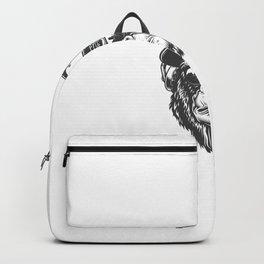 Cabeza Gorila Estilo Monocromo Backpack