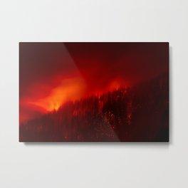Red Fire Metal Print