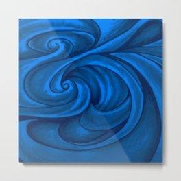 swirl (dark blue) Metal Print
