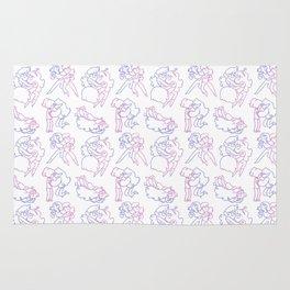 Marceline and Bubblegum Pattern Rug