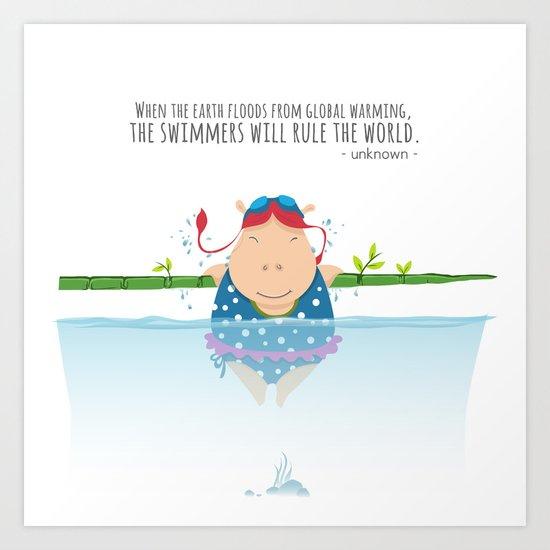 Tifanny - Swimmer Art Print