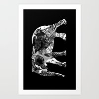 Inverted elephant Art Print