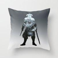 skyrim Throw Pillows featuring Skyrim by Ioana Muresan