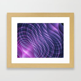 Digital waves Framed Art Print