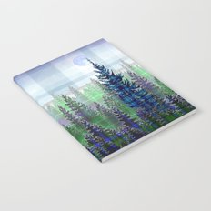 Nature Reflected Plaid Pine Forest Notebook