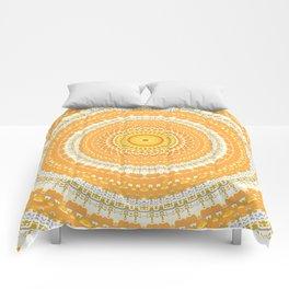 Marigold Orange Mandala Design Comforters