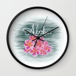 Aloha Flowers Wall Clock