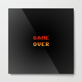 Game over 8bit retro Metal Print