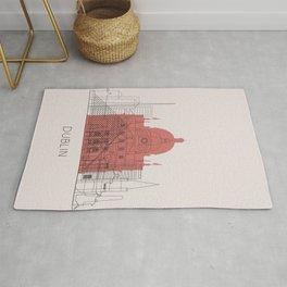 Dublin Landmarks Poster Rug