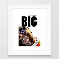 notorious big Framed Art Prints featuring Notorious BIG by Jamaal lamaaj studio.