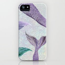 Amethyst and Teal Mermaid Tails iPhone Case
