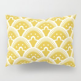 Fan Pattern Mustard Yellow 201 Pillow Sham