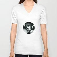 atlas V-neck T-shirts featuring Atlas Helix by Richard George Davis