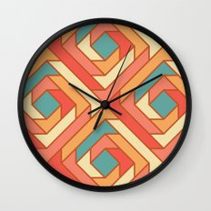 Square Flowers Wall Clock