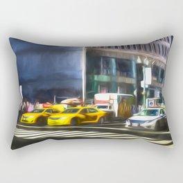 New York Street Art Rectangular Pillow
