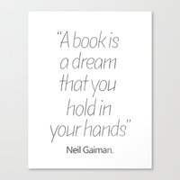 neil gaiman Canvas Prints featuring Neil Gaiman, quotes, inspirational  by Good vibes and coffee