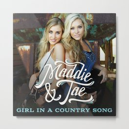 MADDIE TAE GIRL IN A COUNTRY SONG TOUR DATES 2019 MAWAR Metal Print